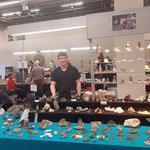 Hannes Casutt an der Mineralienmesse Basel Schweiz