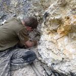 Kleine Kluft mit Bergkristallen - Graubünden Schweiz