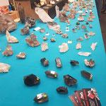 Stand Casutt mit unserem Angebot - Mineralienmesse Basel Schweiz