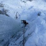 Walter am Eisklettern - Vals Schweiz Graubünden
