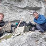 Hannes und Richi machen Pause - Strahlen Graubünden Schweiz