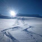 Skiabfahrt - Vals Graubünden Schweiz