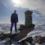 Walter auf dem Gipfel des Frunthorns