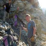 Michi, Walter und Hannes am Strahlen - Graubünden Schweiz