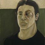 oeil au beur noir II - aout11 - huile sur toile, 36x48cm