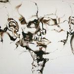 crâne - jan08 - huile sur toile, 130x100