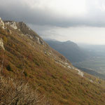 sur les contrefort des alpes julienne, on voit l'Italie ! !