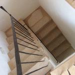 Treppengeländer mit integrierten Kerzenständern