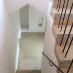 Blick Treppe nach unten