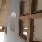 Blick auf die Fassade von der Eingangstür