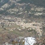 Le village de Luc-en-Diois depuis Clamontard