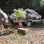 nettoyage de la machine à l'eau