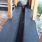 Mur paille GREB - 5 ans après Pr%C3%A9paration-des-lisses-basses-avec-pose-d-un-pare-pluie