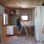 bouchage des trous au plafond et sur les murs