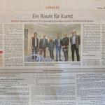 Presse vom 15.02.2019 – Ein Raum für Kunst, Kultur, Hofheimer Zeitung