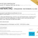 Opening ALPHAPAINTING Straszewski, Weitenberg und EL EGO, Vernissage: Mittwoch, 27.02.2019 um 20 Uhr, RUBRECHTCONTEMPORARY Wiesbaden