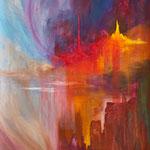 < Intra Terre > acrylique sur toile libre 200x160cm