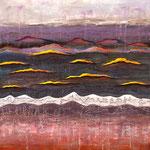 < Nuages > acrylique, pigmentssur toile 100x80cm
