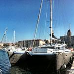 Katamaran an der Côte d`Azur