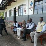 Sitzung mit Headmaster und Parish Priest