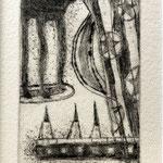 3人の客 銅版画 ¥5,500(シート) 13cm×8cm
