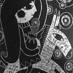 星の泉 木版画 ¥5,500(シート) 11cm×11cm