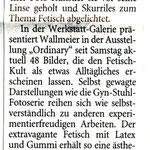 """Ausstellung """"Ordinary"""" in Mönchengladbach 2010 - Artikel Westdeutsche Zeitung"""