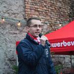 Begrüßung durch den Kerwevadder 2014, Steffen Schäfer.