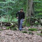 Los Frauchen, ab in den Wald...