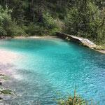 Unglaublich die Farbe dieses Wassers kurz vor Eingang Silberkarklamm