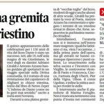 """Articolo uscito il giorno 29 maggio  2013 sul quotidiano locale """"Il Piccolo"""""""