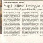 """Articolo uscito il giorno 24 gennaio 2013 sul quotidiano locale """"Il Piccolo"""""""