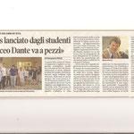 """Articolo uscito il giorno 22 luglio 2012 sul quotidiano locale """"Il Piccolo"""""""