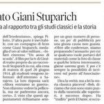 """Articolo uscito il giorno 18 maggio 2014 sul quotidiano locale """"Il Piccolo"""""""