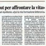 """Articolo uscito il giorno 5 aprile  2013 sul quotidiano locale """"Il Piccolo"""""""