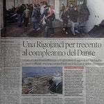 """Articolo uscito il giorno 17 ottobre 2013 sul quotidiano locale """"Il Piccolo"""""""