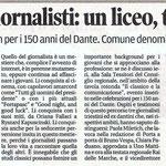 """Articolo uscito il giorno 11 aprile 2014 sul quotidiano locale """"Il Piccolo"""""""