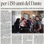 """Articolo uscito il giorno 2 ottobre 2013 sul quotidiano locale """"Il Piccolo"""""""