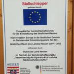 Der neue Stall für unsere Legehennen wurde von der Europäischen Union und dem, Land Hessen gefördert.