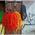 Marrakech, souk des teinturiers