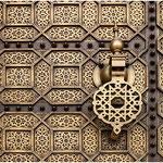 Rabat, porte du Mausolée de Mohammed V