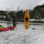 Einstieg bei ner ganzen Menge Schnee