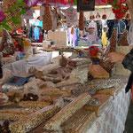 Süßigkeiten am Markt werden natürlich gekauft