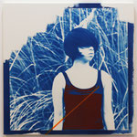 Even if you say so,I do not know / 2013 S10号 cyanotype シルクスクリーン