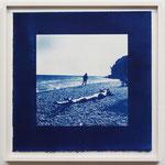 Die Fortsetzung jenes Tages , Rugen Jasmun / 2016 S8 紙にcyanotype