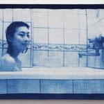 風呂女子 -sn10- / 2015 M4号 布にcyanotype