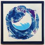 シュークリーム CPP / 2014 S5号 cyanotype シルクスクリーン