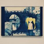 やましたみか×ベロニカ都登 -03- / 2012 420×297mm cyanotype アクリル 紙 木製パネル