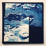 みつぼ -連なり- / 2013 ED.5 S4号(333×333mm) cyanotype 紙 木製パネル
