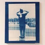 2011.08.09 / 2012 F8号(380×455mm) cyanotype 紙 木製パネル